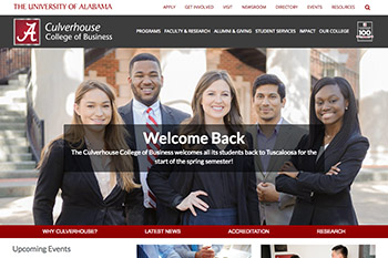 Manderson Graduate School of Business Website