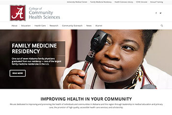 College of Community Health Sciences Website