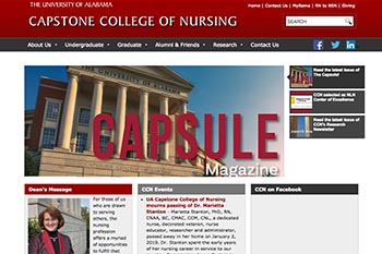 Capstone College of Nursing  Website
